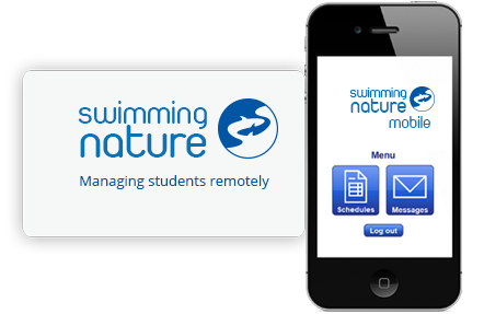 An iPhone featuring the Swimming Nature online mobile data system